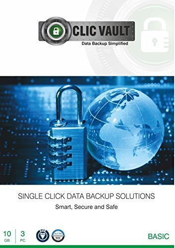 ClicVault Online Data Backup (Basic - 10 GB) - 3 PC, 1 Year (CD)