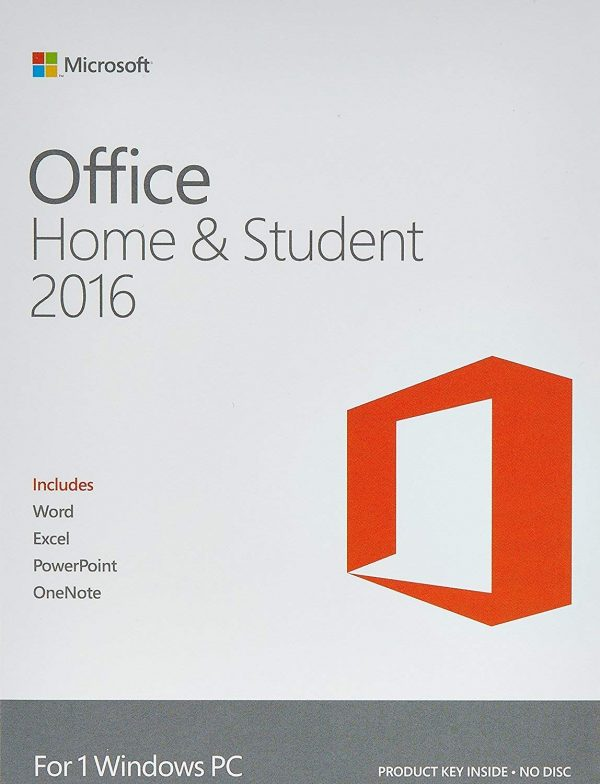 Microsoft Office Home & Student 2016 For 1 Windows PC laptop- Lifetime license (Activation Key Card)